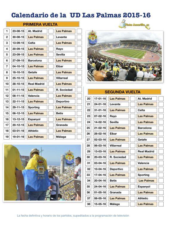 Calendario Ud Las Palmas.La Ud Comienza La Temporada En El Vicente Calderon