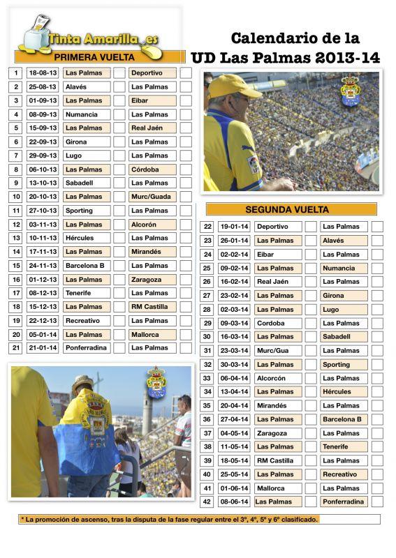 Calendario Ud Las Palmas.Descarga E Imprime El Pdf Del Calendario Individual De Ud Las Palmas