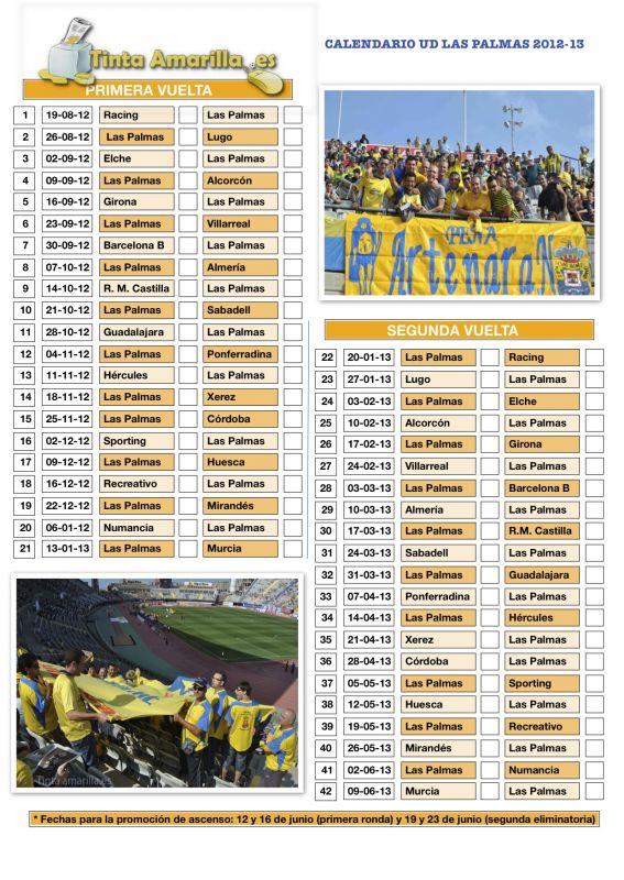 Calendario Ud Las Palmas.Racing Las Palmas En La Primera Jornada 2012 13